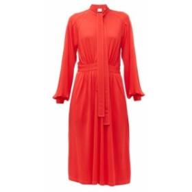 バーバリー Burberry レディース ワンピース ワンピース・ドレス Haima pussy-bow jersey midi dress red