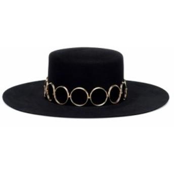 イヴ サンローラン Saint Laurent レディース 帽子 Felt hat Black/Gold
