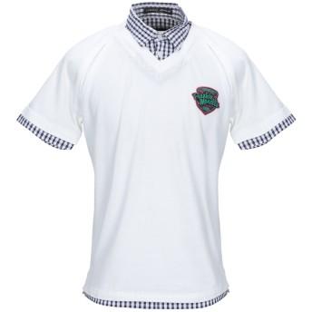 《期間限定セール開催中!》FRANKIE MORELLO メンズ ポロシャツ ホワイト L コットン 100%