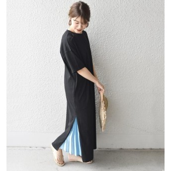 【シップス/SHIPS】 otonaMUSE×SHIPS プリーツスカート付きTEEシャツドレス