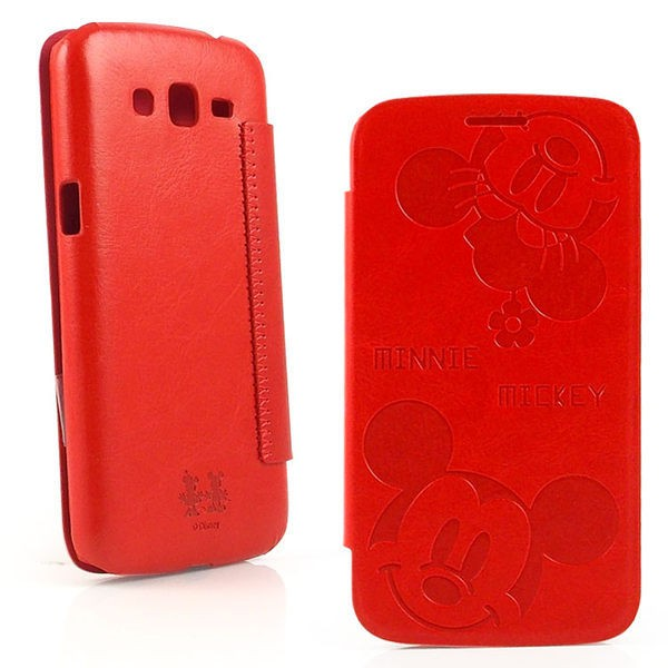 【Disney 】SAMSUNG GALAXY Grand 2 (G7102)可愛米奇米妮時尚壓紋皮套