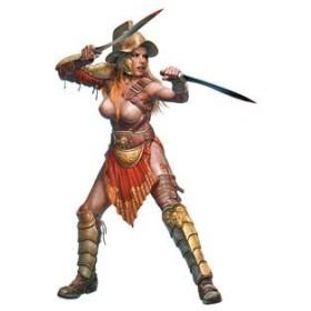 マスターボックス 1/ 24 宇宙の果ての奇妙な仲間シリーズ3:女剣闘士 ヘレン・パーソンズ(MB24056)プラモデル 返品種別B