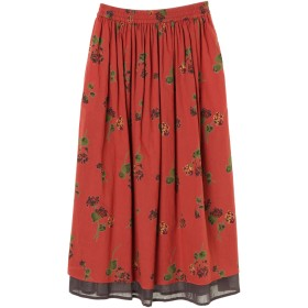 【6,000円(税込)以上のお買物で全国送料無料。】2段ボイルギャザーロングスカート