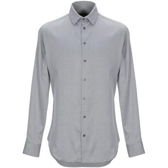《セール開催中》GIORGIO ARMANI メンズ シャツ グレー 39 コットン 100%