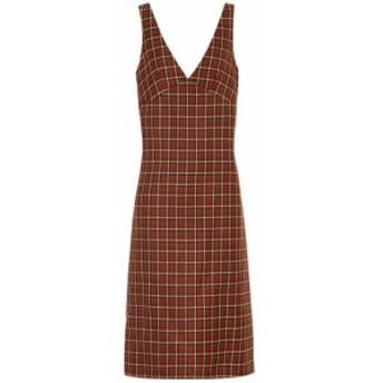 プラン C Plan C レディース ワンピース ワンピース・ドレス Checked wool midi dress red framework