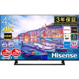 【ハイセンス・ジャパン】 43V型 BS/CS 4Kチューナー内蔵液晶テレビ 43E6800 据置型液晶TV41~49型