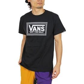 (バンズ) VANS Checker Box Logo 半袖 Tシャツ VA19HS-MT07 (XL, BK:ブラック)