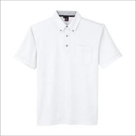 サンエス(SUN-S) 半袖ポロシャツ 胸ポケット付き 汗ジミ防止 春夏 ss-jb55170-b ホワイト 4L