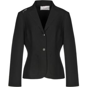 《セール開催中》JUCCA レディース テーラードジャケット ブラック 42 ポリエステル 84% / レーヨン 10% / ポリウレタン 6%