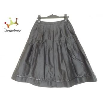 トゥービーシック TO BE CHIC スカート サイズ38 M レディース 美品 黒 スパンコール/ビーズ 新着 20190726