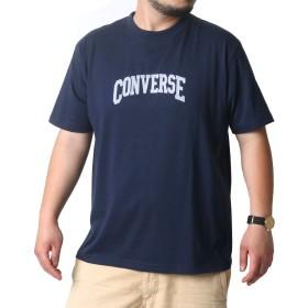 [コンバース] 大きいサイズ メンズ Tシャツ 半袖 ネイビー 2Lサイズ:(身丈74cm 肩幅52cm 身幅60cm 袖丈24cm 胸囲100~108cm)