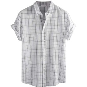 Tシャツ メンズ Luguojun チェックシャツ カジュアル 男性用シャツ チェック柄 ボタンダウンシャツ ストライプ 折襟 おしゃれ ネルシャツ 大きいサイズ 春夏秋 クラシック パーカー ゆったり レイヤード シャツメンズ チェック 柄シャツ トップス