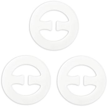 uxcell ブラ クリップ ブラストッパー ひも ズレ 防ぐ ブラストラップクリッパー 円形 ホワイト