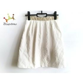 マッキントッシュフィロソフィー スカート サイズ36 M レディース 美品 白 刺繍   スペシャル特価 20191105