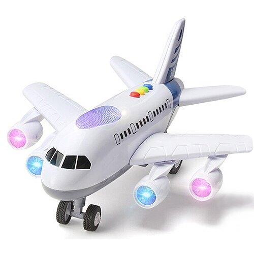 【孩子國】炫光音樂模型飛機 /滑行客機~會講故事