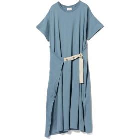 (レイビームス)Ray BEAMS/ワンピース ラップ フロント ロングTシャツ ワンピース レディース BLUE ONE SIZE
