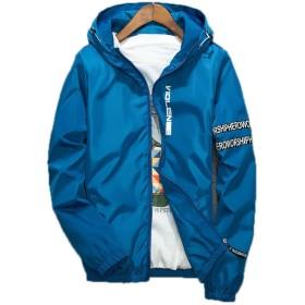 ミネサム Minesam メンズ ジャケット 春秋 薄手 長袖 ジャンパー メンズ 薄手 コート カジュアル ライトブルー 3L