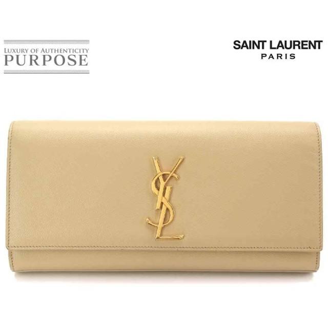 サンローラン パリ SAINT LAURENT PARIS ケイト クラッチ バッグ レザー ベージュ 326079
