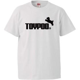 おもしろtシャツ 犬Tシャツ 【トイプードル ジャンプ】【白T】【XL】 PRIME