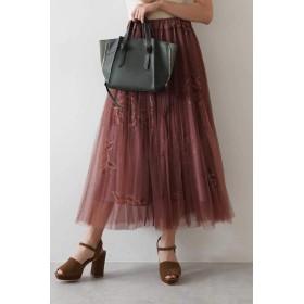 【公式/フリーズマート】消しプリーツチュール重ね花柄スカート/女性/スカート/ピンク×BEフラワー/サイズ:FR/(外側)ポリエステル 100%(内側)ポリエステル 100%