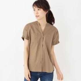 [マルイ]【セール】【42(LL)WEB限定サイズ】エアリーローンキーネックシャツ/オペークドットクリップ(OPAQUE. CLIP)