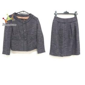 トゥモローランド スカートスーツ サイズ38 M レディース 美品 ダークブラウン×黒×ネイビー   スペシャル特価 20191011