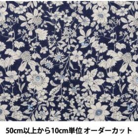 【数量5から】 生地 『マンセルコレクション シーチング 花柄 紺 YUZ-675-3』
