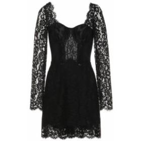 ドルチェ&ガッバーナ Dolce & Gabbana レディース パーティードレス ワンピース・ドレス Cotton-blend lace minidress Black