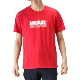 LOVE-T MARVEL BOXロゴTシャツ 半袖Tシャツ クルーネック プリントTシャツ 932038MH メンズ レッド:XXL