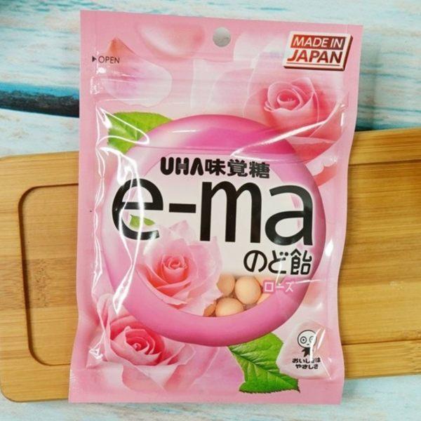 味覺糖e-ma喉糖-玫瑰味 50g【4514062419091】(日本糖果)