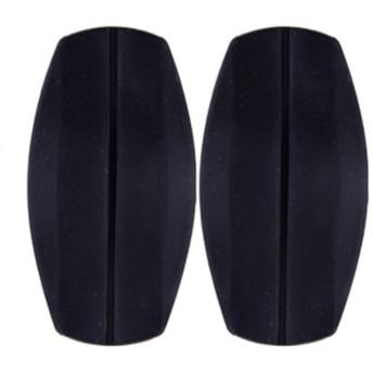 Arvolno ブラジャー クッションパッド 肩パッド レディース シリコン製 痛み軽減 減圧 肩ヒモ ズレ 防止 なで肩 ブラック ベージュ 半透明 3色 (ブラック)