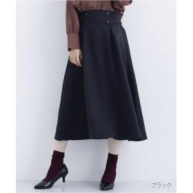 (merlot/メルロー)ワンタックフレアスカート1794/レディース ブラック