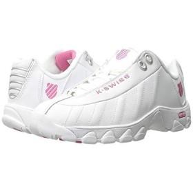 [ケースイス] レディーススニーカー・靴・シューズ ST329 CMF White/Shocking Pink Leather (24cm) B - Medium [並行輸入品]