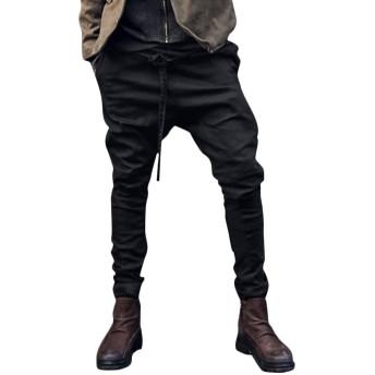 [Minesam] メンズ ロングパンツ リネン ウエスト引き紐入り 無地 シンプル お洒落 ズボン 春夏 カジュアル 薄手