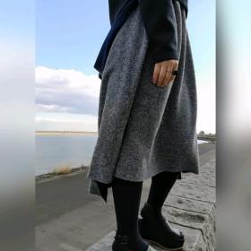 《残り1点》dual-layered knit skirt 接結コットンニットスカート