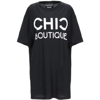 《9/20まで! 限定セール開催中》BOUTIQUE MOSCHINO レディース T シャツ ブラック 38 コットン 100%