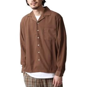 [ジップファイブ] ZIP FIVE 長袖 オープンカラーシャツ 開襟シャツ メンズ 17110 21SMOKEYBROWN XL