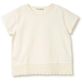 [ブランシェス] (プチプラ)裾レース 半袖 Tシャツ 130cm アイボリー