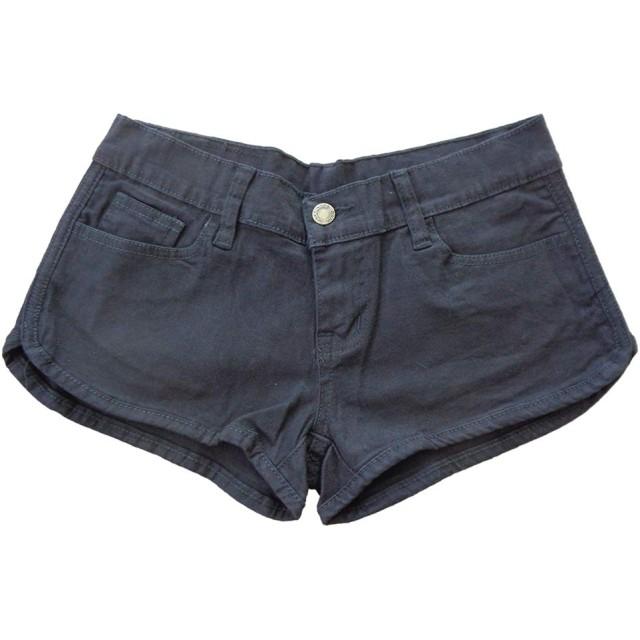 メンズ デニム BLACK スポーティー ホットパンツ 82072 ローライズ 男性用 ショートパンツ (M)