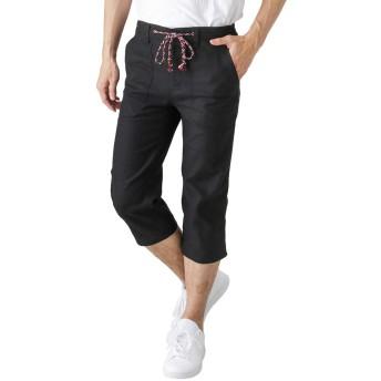 クロップドパンツ メンズ ハーフパンツ ショートパンツ ひざ下 クロップド丈 391124MH メンズ ブラック:L
