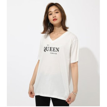 【AZUL by moussy:トップス】QUEEN TEE