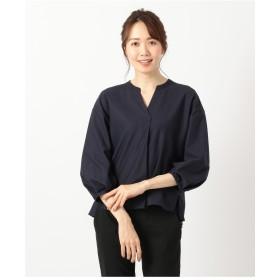 自由区 【接触冷感&UVケア】TWIST PLAIN ジャージーカットソー Tシャツ・カットソー,ネイビー系