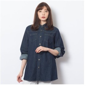 Fitme Moi / フィットミーモア [大きいサイズ/LL〜4L]ライトオンスデニム・ビジュー付きシャツ