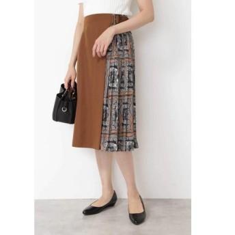 NATURAL BEAUTY BASIC / ナチュラルビューティーベーシック スカーフプリント切替スカート