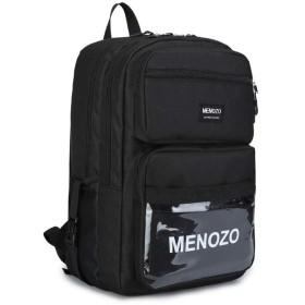 Menozo M635 ズック 大容量 高校生 リュックサック 通勤 レディース 通学 リュック メンズ バックパック (A)