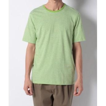 (BENETTON (UNITED COLORS OF BENETTON)/ベネトン(ユナイテッド カラーズ オブ ベネトン))ボーダー半袖Tシャツ・カットソー/メンズ グリーン