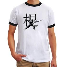 Wushu stick chinese character リンガー Tシャツ