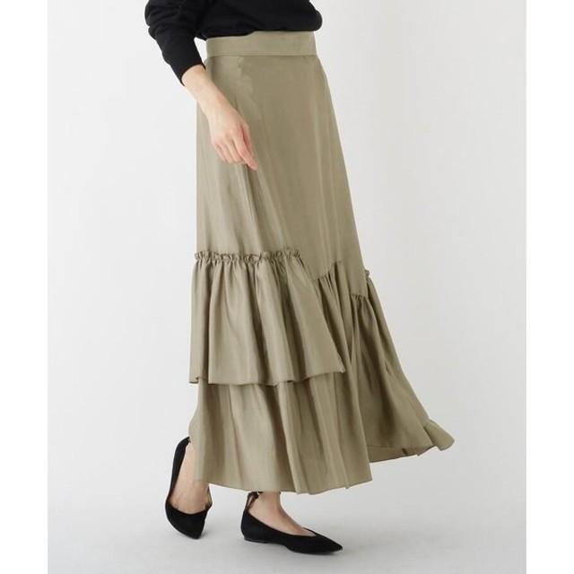DRESSTERIOR / ドレステリア ドレープサテンティアードスカート
