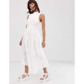 エイソス レディース ワンピース トップス ASOS WHITE broderie midi dress White