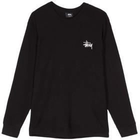 STUSSY ステューシー 長袖Tシャツ BASIC STUSSY LS TEE (M, BLACK) [並行輸入品]